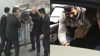 Turkey President Recep Tayyip Erdogan saves man from jumping off bridge