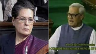 When furious Atal Bihari Vajpayee slaps Sonia Gandhi with words in Parliament (Watch video)