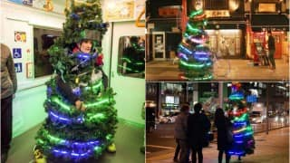 Here is the running Christmas tree that has taken the internet by storm