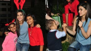 Dilwale hottie Kriti Sanon celebrates Christmas with kids! (See Pictures)