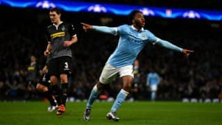 Raheem Sterling stars to give Manchester City top spot in Champions League group