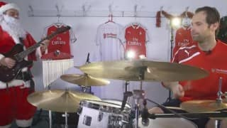Arsenal stars Petr Cech, Alexis Sanchez, Nacho Monreal wish Merry Christmas by playing in band