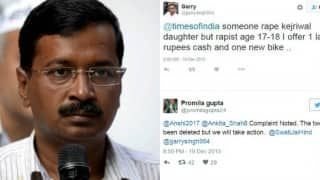 Man requests Twitterati to rape Arvind Kejriwal's daughter; DCW gives swift response!