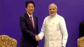 Shinzo Abe praises Narendra Modi's efficiency; says PM's policy implementation as fast as a bullet train