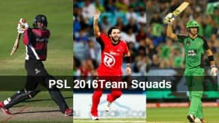 Pakistan Super League Team Squads: Check out full list of players of PSL 2016 teams