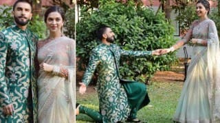 Awww! Bajirao Ranveer Singh goes down on his knees for Mastani Deepika Padukone!