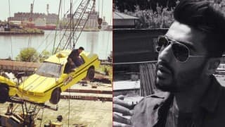 Arjun Kapoor does some daredevil stunts on the sets of Khatron Ke Khiladi season 7 (In Pics)