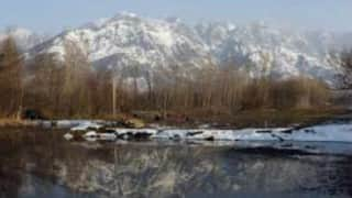 Night temperature drops in Kashmir Valley