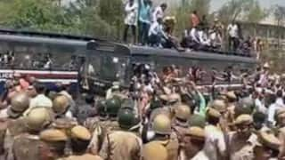 BJP workers demand CM Arvind Kejriwal's resignation over auto permit scam