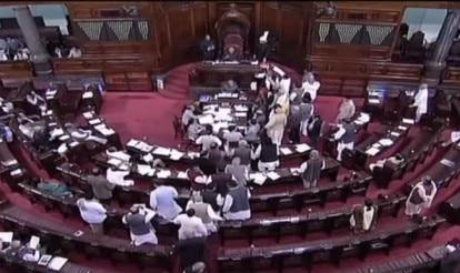 Uproar in Parliament: Congress protests mar Rajya Sabha proceedings