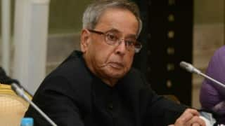 President Pranab Mukherjee hopes Tamil Nadu people will overcome flood tragedy with dignity