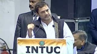 Rahul Gandhi attacks PM Modi for allegedly diluting labour laws, calls it a nefarious design of BJP, RSS