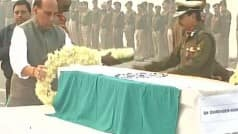 Rajnath Singh pays homage to BSF plane crash victims in Delhi