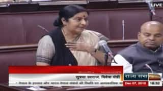 Sushma Swaraj in Parliament: Denies India's role in Madhesi agitation against Nepal government