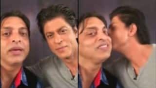 Here is the deleted video of Shah Rukh Khan kissing Shoaib Akhtar