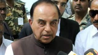 Subramanian Swamy keeps up attack on CEA, brushes aside Arun Jaitley's remarks