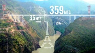 World's tallest arch bridge is under construction in Jammu and Kashmir, watch video