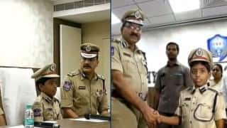 Eight-year-old Hyderabad boy becomes police commissioner for a day