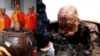94-year-old monk's mummified body to be made into a gold Buddha statue