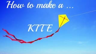 DIY Kite: This kite made from junk materials will fly high and help recycle your waste!