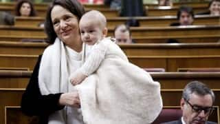 Spanish MP Carolina Bescansa in controversy for breastfeeding 5-month-old in Parliament