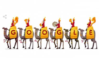 India Republic Day 2016 Google Doodle: Google pays tribute to BSF camel contingent on 67th Republic day of India