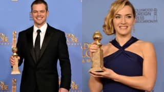 Matt Damon, Kate Winslet early Golden Globe winners