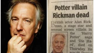 "TOI bids adieu to Alan Rickman by calling him the ""Potter Villain"""