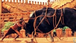 Wow! देखिये कैसे शूट हुआ फिल्म बाहुबली का बुल फाइटिंग सीन (विडियो)