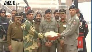 BSF-Pak Rangers exchange sweets on occasion of 67th Republic Day