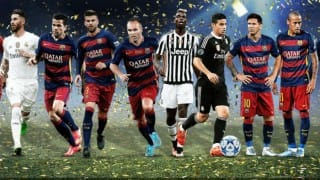 Lionel Messi, Neymar, Cristiano Ronaldo in UEFA's team of the year