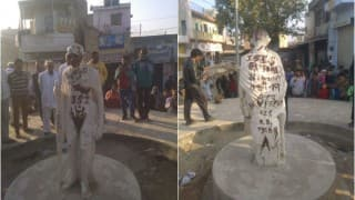 Mahatma Gandhi's statue defaced in Dudu, 'ISIS zindabad' scribbled on it