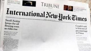 Pakistani edition of New York Times posts blank page on Gay Kiss in China ; cites censorship