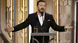 Golden Globes Awards 2016: Ricky Gervais entertains with unabashed jibes