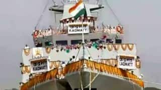 Major boost to 'Make in India': 'Indigenously' produced warship INS Kadmatt commissioned by Naval chief RK Dhowan
