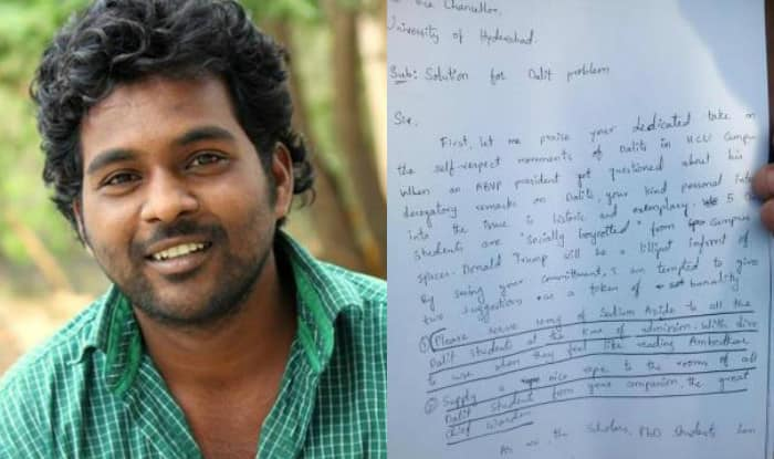 Prepare for Dalit Euthanasia, said Rohith Vemula in searing letter to University of Hyderabad VC, just weeks before his death