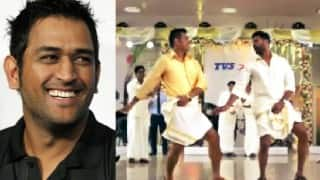 MS Dhoni copies Shah Rukh Khan in this 'Lungi Dance' ad with Prabhudeva! Watch video