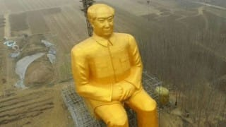 Giant Mao: Chinese villagers resurrect Chairman Mao Zedong's legacy by building 121 feet tall golden statue!