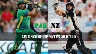 NZ won by 95 runs   Live Cricket Score Updates Pakistan vs New Zealand 3rd T20 2016: PAK 101 All-out in 16.1 Overs (Target 197)