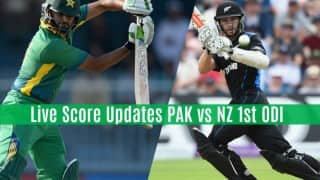 NZ won by 70 runs   Live Cricket Score Updates Pakistan vs New Zealand 1st ODI 2016: PAK 210 All-out in 46 Overs (Target 281)