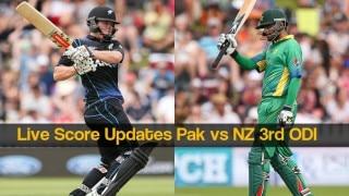 NZ won by 3 wkts   Live Cricket Score Updates Pakistan vs New Zealand 3rd ODI 2016: NZ 265/7 in 42.4 Overs (Target 263 D/L)