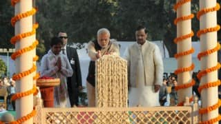 Mahatma Gandhi 67th Death Anniversary: Narendra Modi pays obeisance to Father of the Nation