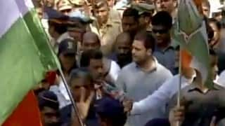 Rahul Gandhi begins 'padyatra' from Bandra Bandstand to Dharavi