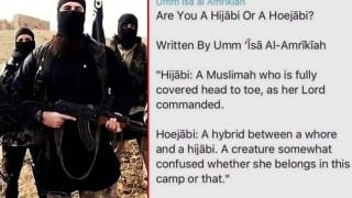 ISIS releases new message for woman, asks 'Are you a Hijabi or Hoejabi'!