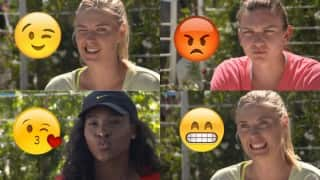 Maria Sharapova, Serena Williams lead tennis stars brigade in making emoji faces! Watch video