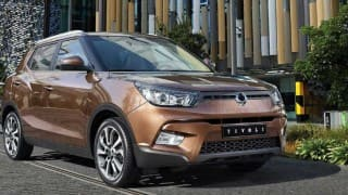 Mahindra's new car Ssangyong Tivoli spotted in India