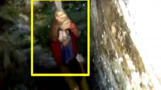 Selfie disaster averted: Austrian tourist fells into well in Junagadh fort; gets rescued in thrilling manner (Video)
