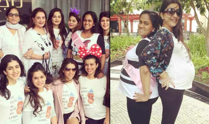 Salman Khan S Sister Arpita Khan Sharma S Baby Shower Inside Pictures Of Mom To Be And Her Girl Gang India Com