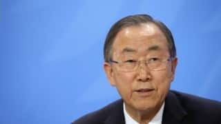 UN General Secretary Ban ki-Moon calls for calm in Brazil after Dilma Rousseff's suspension