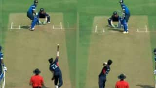 Watch Vidharbha's Akshay Karnewar bowl with right and left-hand in the same over